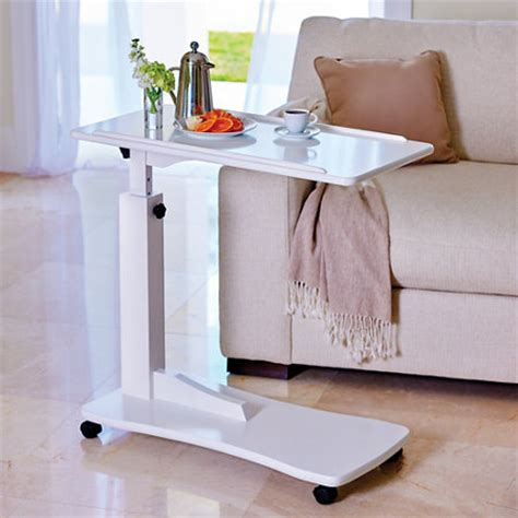 adjustable bed table rolling adjustable reading bedside bedroom laptop computer medical aide table ebay