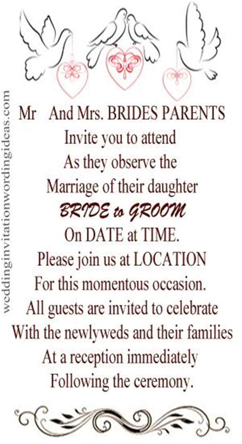 wedding invitation casual wording informal wedding invitation wording exles