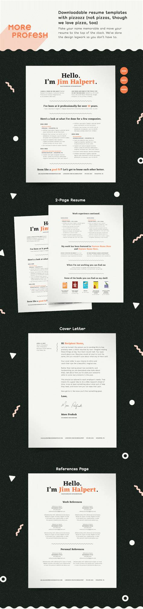 Human Voiced Resume by Human Voiced Resume Template On Behance