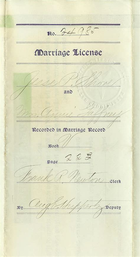 San Antonio Marriage License Records Family Records