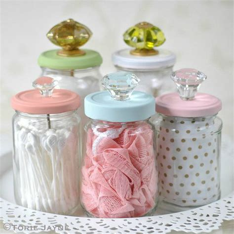Retro Kitchen Canisters diy craft ideas for recyclable glass jars