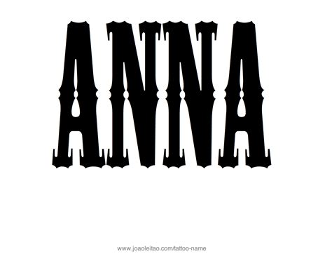 anna name tattoo designs