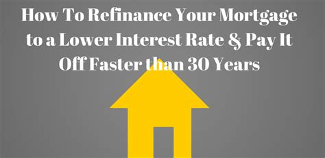refinance my mortgage with less than a 30 year pay