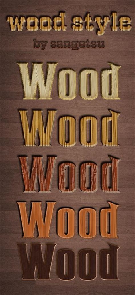Wood And Style by Wood Photoshop Styles And Actions Psddude