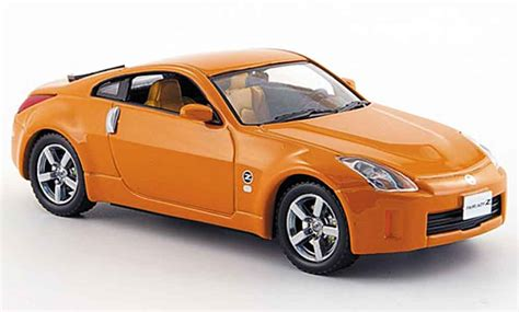 orange nissan 350z nissan 350z orange facelift 2007 j collection modellauto 1
