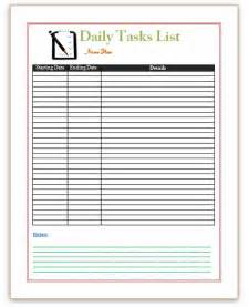 Template For Task List Pics Photos Task List Template Word