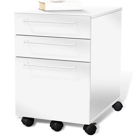 Kitchen Carts Islands Utility Tables by 3 Drawer Mobile Pedestal White Dcg Stores