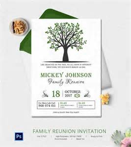 Free Reunion Invitation Templates by 32 Family Reunion Invitation Templates Free Psd Vector