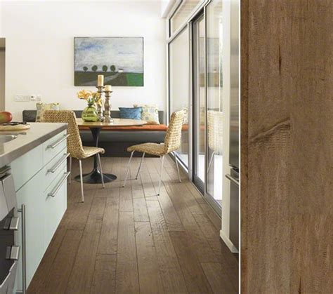 hgtv home flooring by shaw hardwood with lots of chatter marks and character right down to the