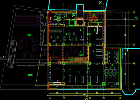 floor design internet cafe dwg block  autocad
