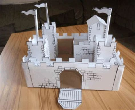 new paper craft simple castle ver 2 free