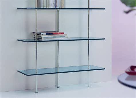 Glass Bookshelf Trasparenza Glass Bookcase Wall Unit Glass Furniture