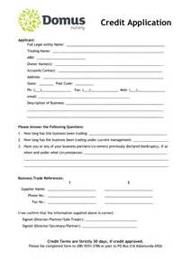 credit application form template uk domus nursery credit application form in word and pdf formats