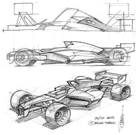 Formula 1 Sketches by F1 Concepts In My Headlights