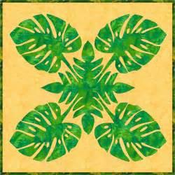 barbara bieraugel designs monstera hawaiian applique