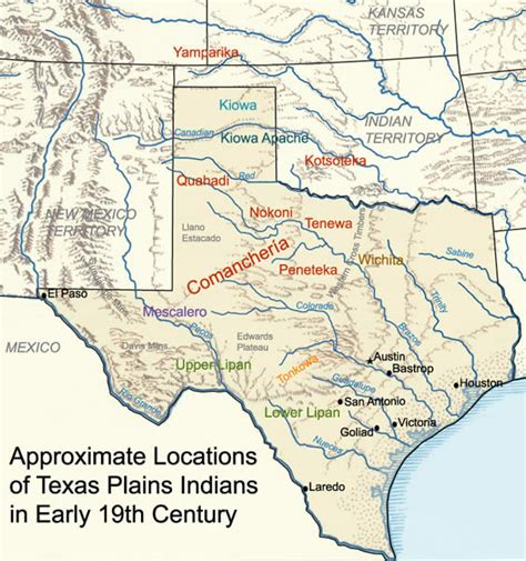 texas plains map texas plains indians 19th century map texas mappery