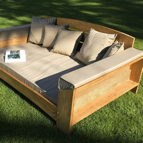 Daybed Outdoor Furniture Arcut Outdoor Teak Outdoor Daybed With Cushions Patio Furniture Traditional Outdoor Sofas