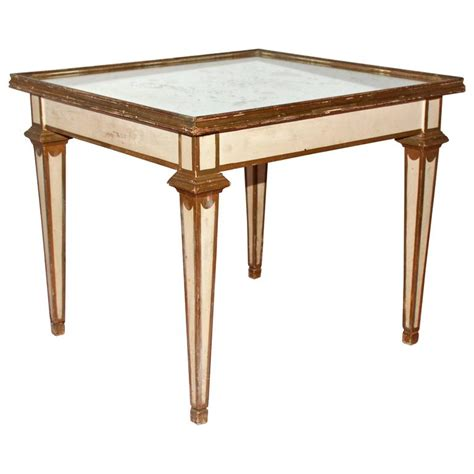Mirrored Table L Classical Moderne Mirrored Coffee Or Side Table For Sale At 1stdibs