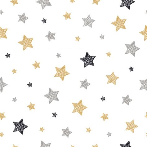 star pattern freepik christmas stars seamless pattern scribble drawing white
