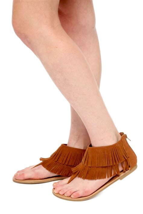 Flat Fringe by City Classified Fringe Flat Sandals From Miami By