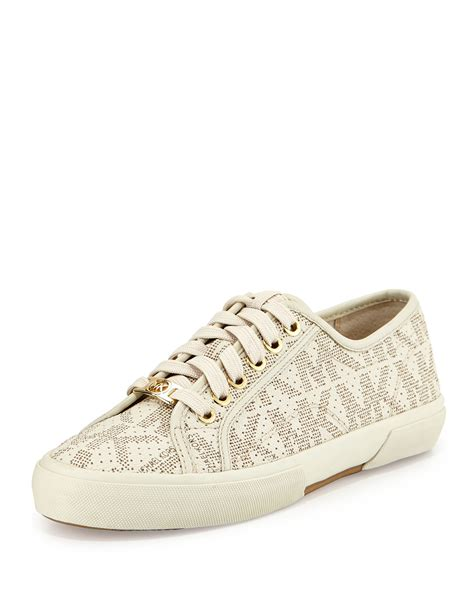 michael kors sneakers michael michael kors boerum lace up low top sneakers in