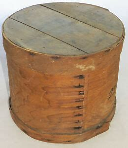 antique wood cheese box country wooden storage crate