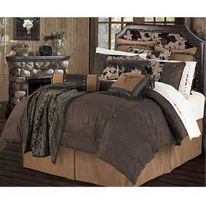western bedding caldwell faux tooled leather chocolate comforter set