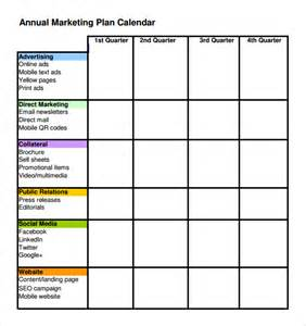Marketing Plan Template Excel by Best Photos Of Annual Marketing Plan Template Excel