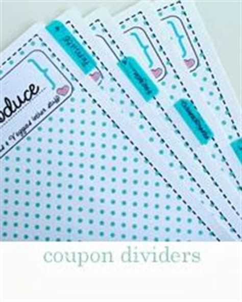 coupon organizing printables store specific coupon binder dividers pinteres
