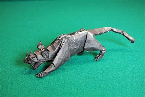 Origami Panther - black panther