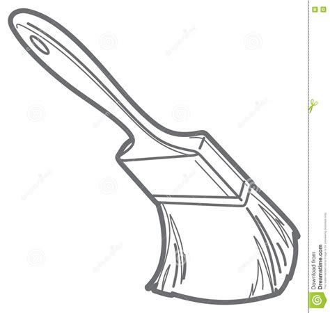 Drawing Outlines For Painting by Paint Brush Vector Outline Stock Vector Image 72887956