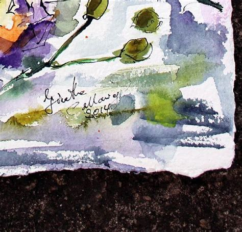 Watercolor Painting On Handmade Paper - sold pineapple and orchids original watercolor and ink on