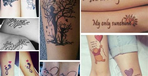 loving mother daughter tattoos inkdoneright