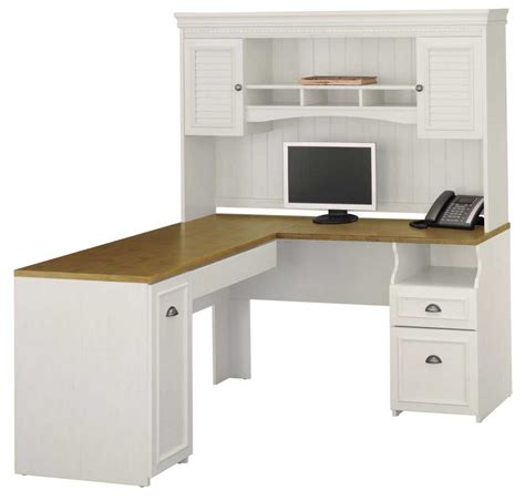bush furniture corner desk corner desk with hutch white