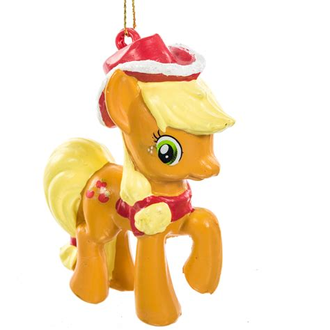 applejack christmas ornament my little pony