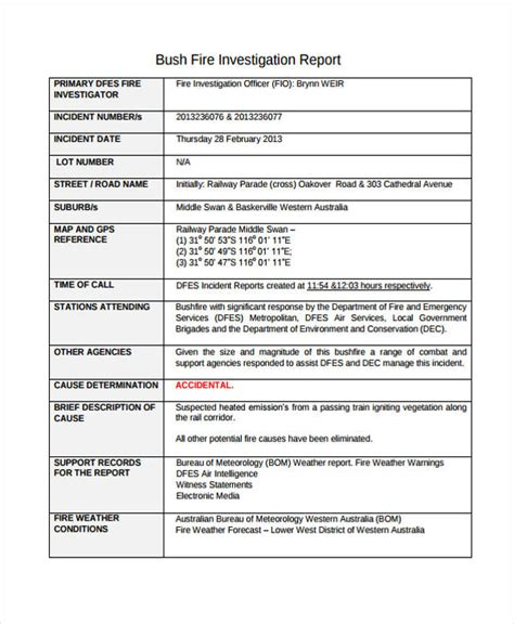 sle investigation report template sle investigation report template 28 images