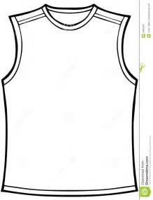 sleeveless shirt template shirt sleeveless stock images image 9462034