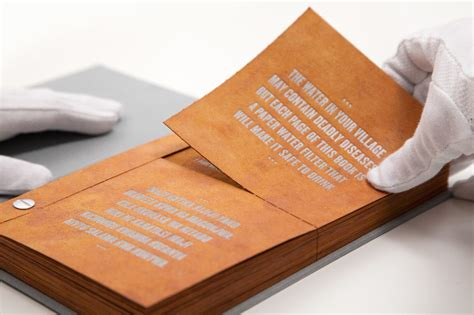 water book the drinkable book cleans and purifies water with advanced filtering paper