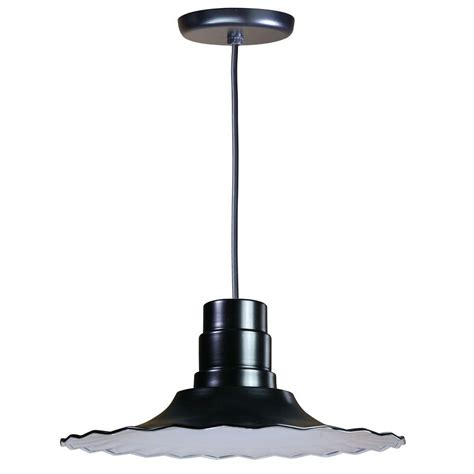 Fluorescent Pendant Lights Illumine 1 Light Ceiling Black Fluorescent Pendant Cli 391 The Home Depot