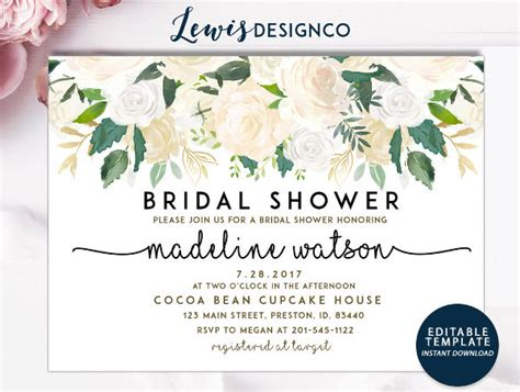 bridal shower card template printable wedding cards free premium templates
