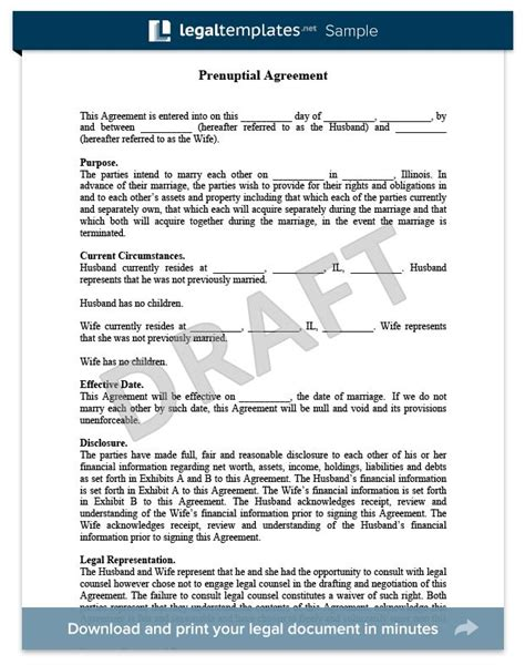 Antenuptial Contract Template prenuptial agreement sle for more information on prenuptial and antenuptial agreements