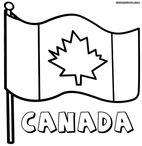 canadian flag coloring pages coloring pages to download