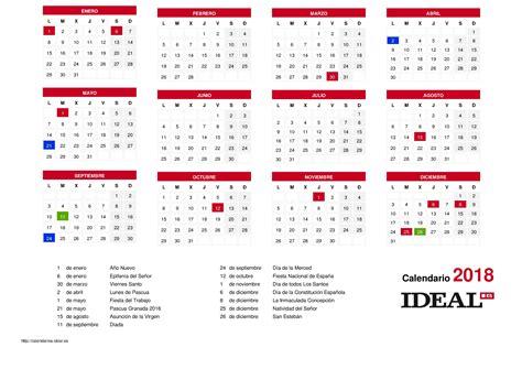 Calendario 2018 Con Festivos Calendario De Septiembre 2018 Pertamini Co