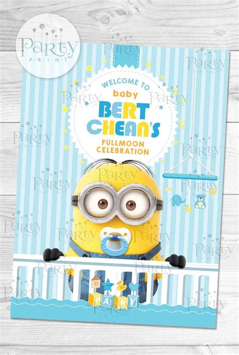 Baby Minion Baby Shower by Despicable Me Minions Baby Shower Ideas Photo 12