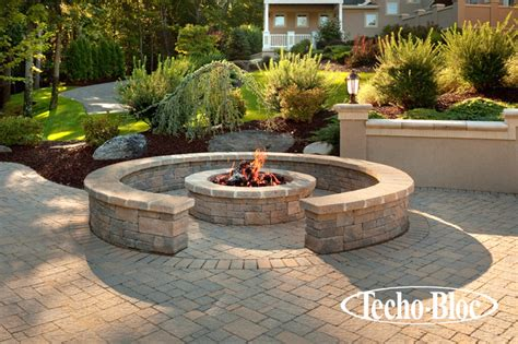 houzz outdoor pits outdoor living valencia pit by techo bloc