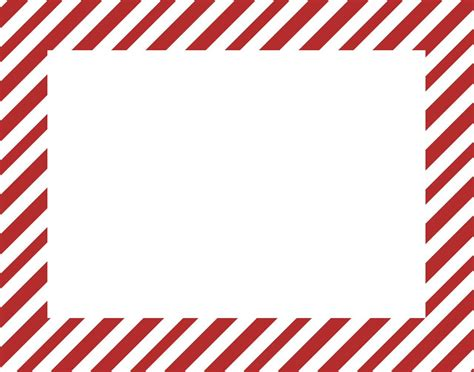 red stripe boarders christmas xmas border for printable paper project life printables