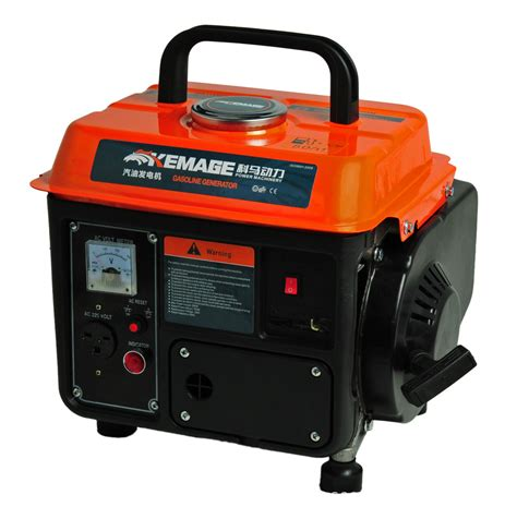 850w portable gasoline generator 2 stroke powered home