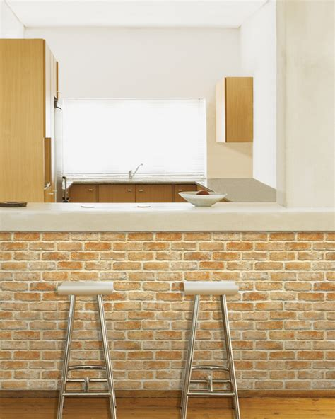 light brown brick self adhesive wallpapers wallstickery