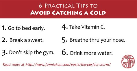10 Tips On Avoiding Cold by 6 Practical Tips To Avoid Catching A Cold Flying Turtle