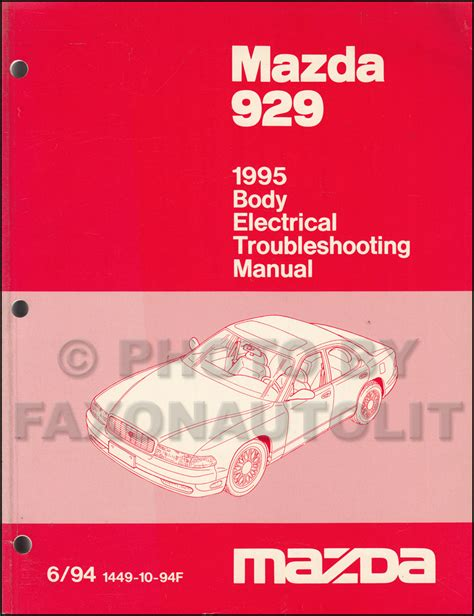 free car manuals to download 1995 mazda 929 electronic throttle control 1995 mazda 929 body electrical troubleshooting manual original